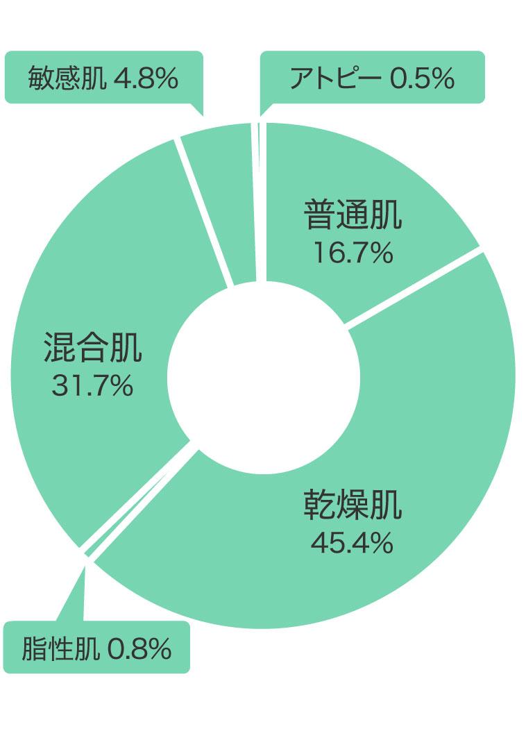 肌質割合グラフ