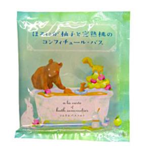 ソムリエ バスソルト / ほろにが柚子と完熟桃のコンフィチュール・バス / 40g
