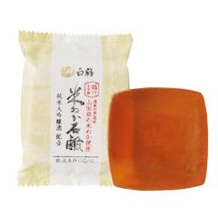 鶴の玉手箱 米ぬか石けん / 100g