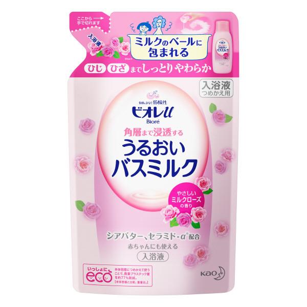 ビオレU家族みんなのすべすべバスミルク ミルクローズの香り / つめかえ用 / 480ml