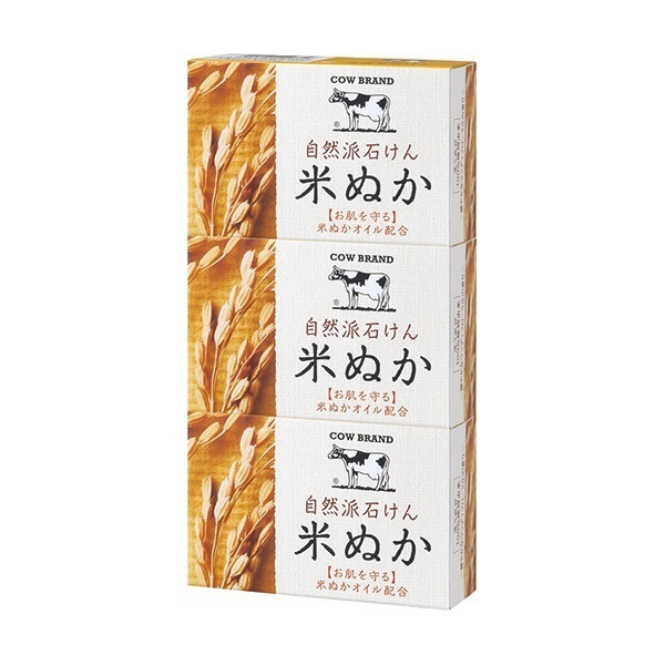自然派石けん 米ぬか / 100g×3個