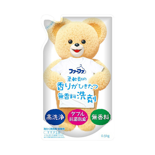 ファーファ 液体洗剤 香りひきたつ 無香料 / 詰め替え / 900g