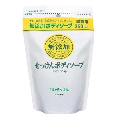 無添加 ボディソープ白いせっけん / 詰替用 / 350ml