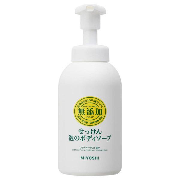 無添加 せっけん泡のボディソープ / 本体 / 500ml