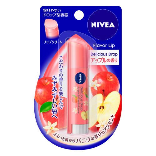 フレーバーリップ デリシャスドロップ アップルの香り~バニラの香りのアクセント / SPF11 / 3.5g