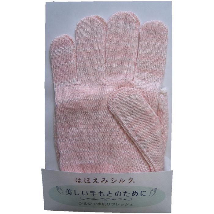 ほほえみ絹手袋 P / ピンク