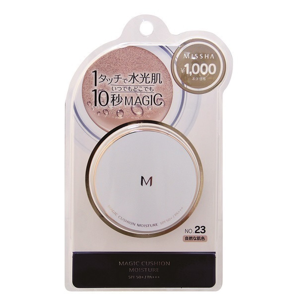 M クッションファンデーション(モイスチャー) / PA+++ / No.23 自然な肌色 / 15g