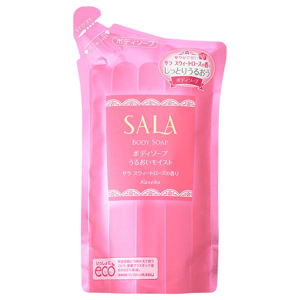 ボディソープNうるおいモイスト(スウィートローズの香り)<つめ替え用> / 400mL / 華やかでやさしいサラスウィートローズの香り
