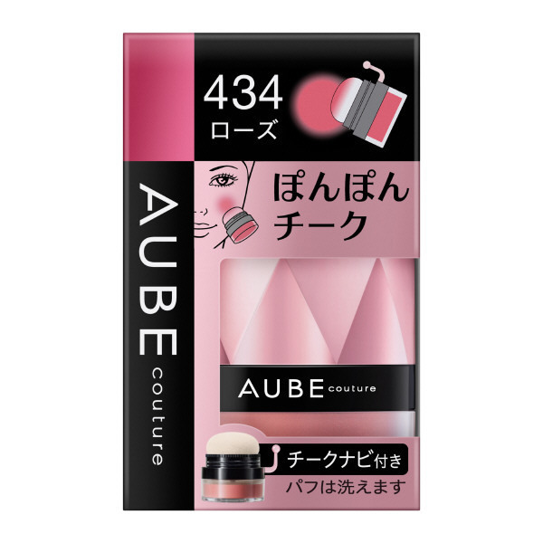 ぽんぽんチーク / 434ローズ / 3.5g