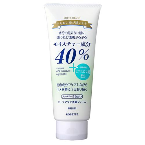 40%スーパーうるおいキープアクア洗顔フォーム
