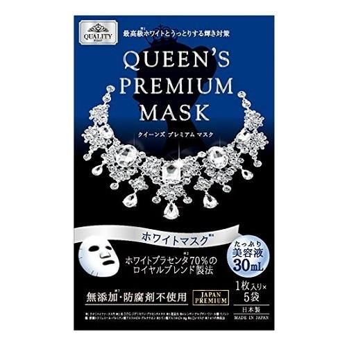 クイーンズプレミアムマスク ホワイトマスク / 1枚入×5