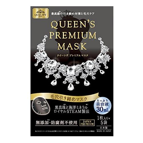 クイーンズプレミアムマスク 毛穴引き締めマスク / 1枚入×5