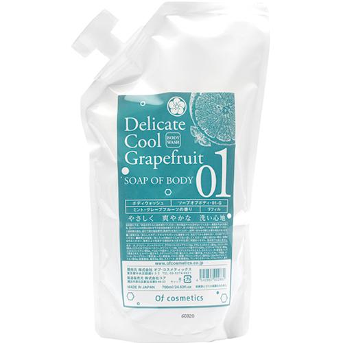 ソープ オブ ボディ・01-G / リフィル / 700ml / ミント・グレープフルーツの香り