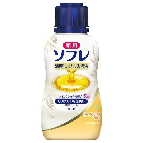薬用ソフレ濃厚しっとり入浴液 リッチミルクの香り / 本体 / 乳白色 / 480ml