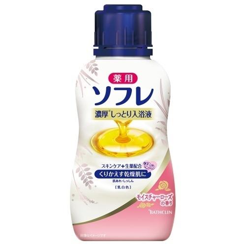薬用ソフレ濃厚しっとり入浴液 モイスチャーローズの香り / 本体 / 乳白色 / 480ml