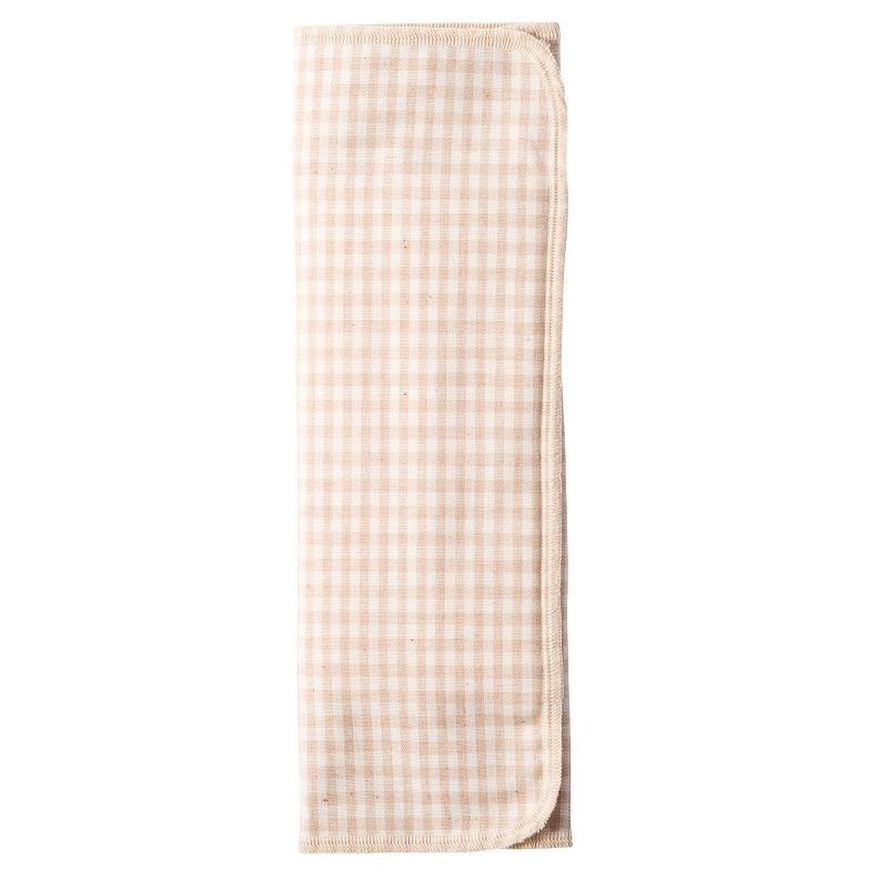 布ナプキン / 【三つ折り】【厚手】【チェック/茶×起毛/茶】 / 1枚