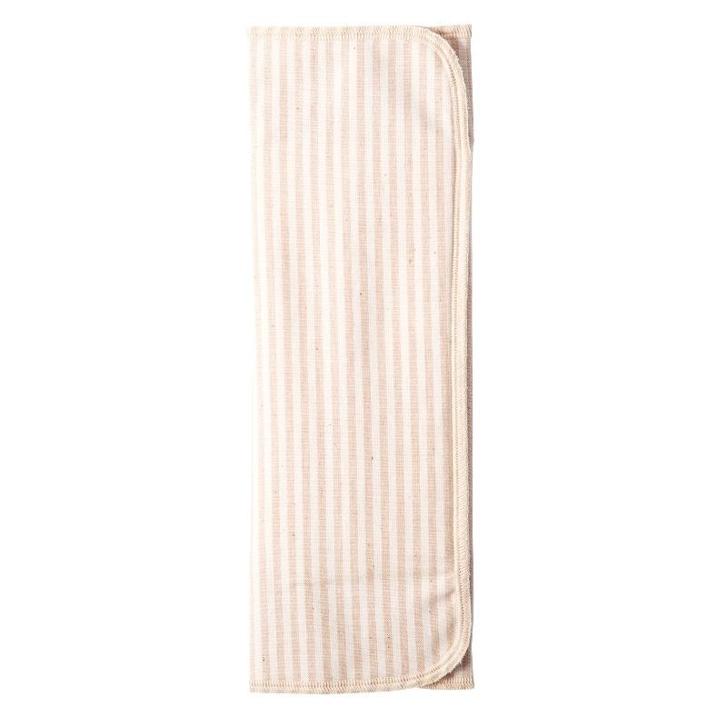 布ナプキン / 【三つ折り】【厚手】【ストライプ/茶×起毛/茶】 / 1枚