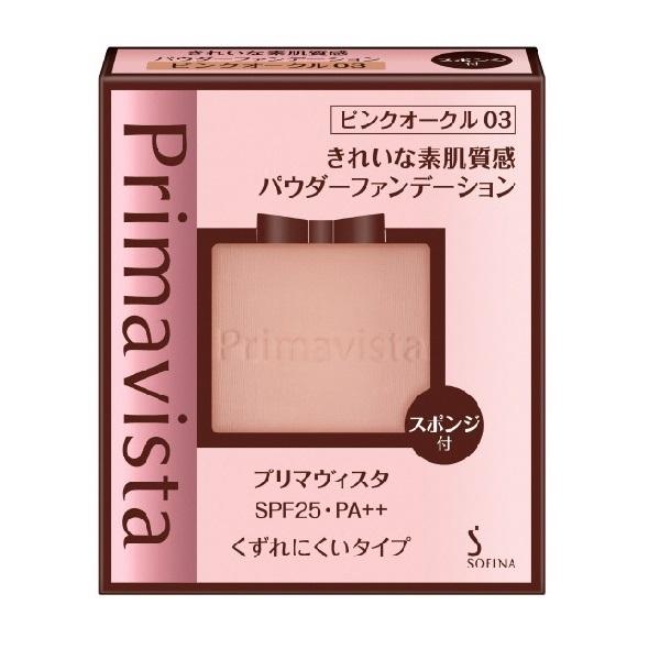 くずれにくい きれいな素肌質感パウダーファンデーション / SPF25 / PA++ / ピンクオークル03 / 9g