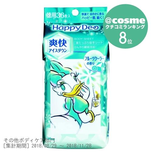 ハッピーデオ ボディシート アイスダウン フルーツクーラー / 徳用36枚