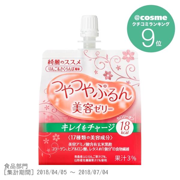 つやつやぷるんゼリー / 150g / りんご&さくらんぼ風味