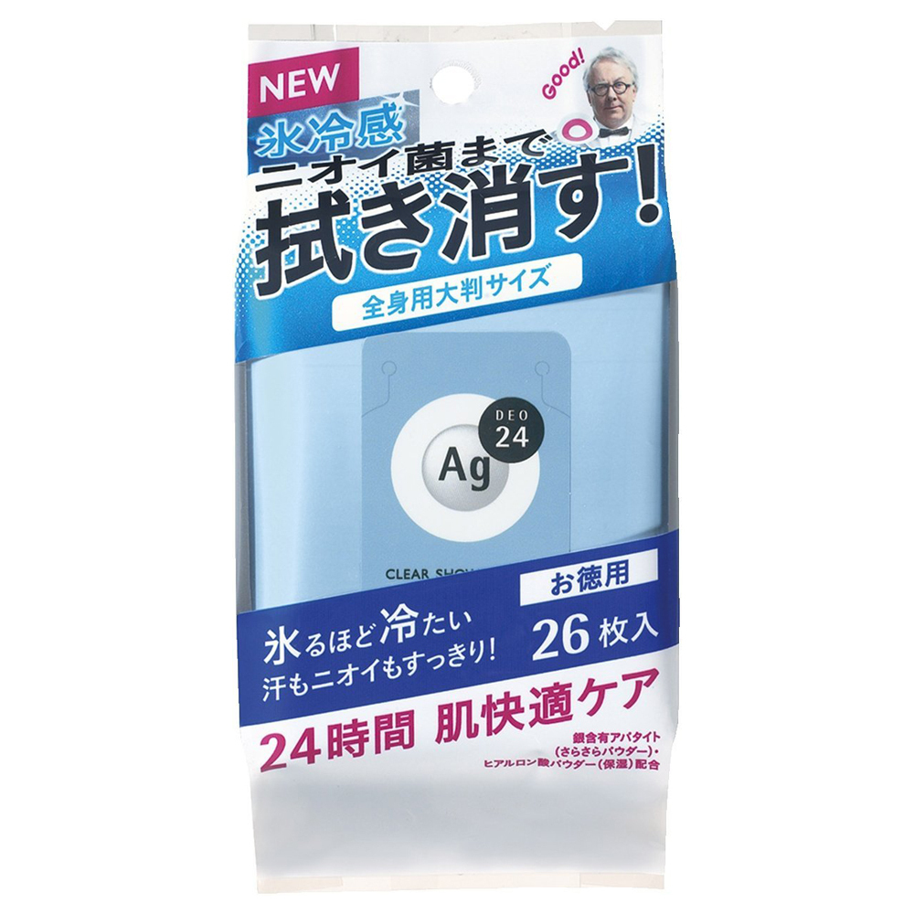 クリアシャワーラージシートNa(クール) / L / 26枚 / さらさら / 無香料