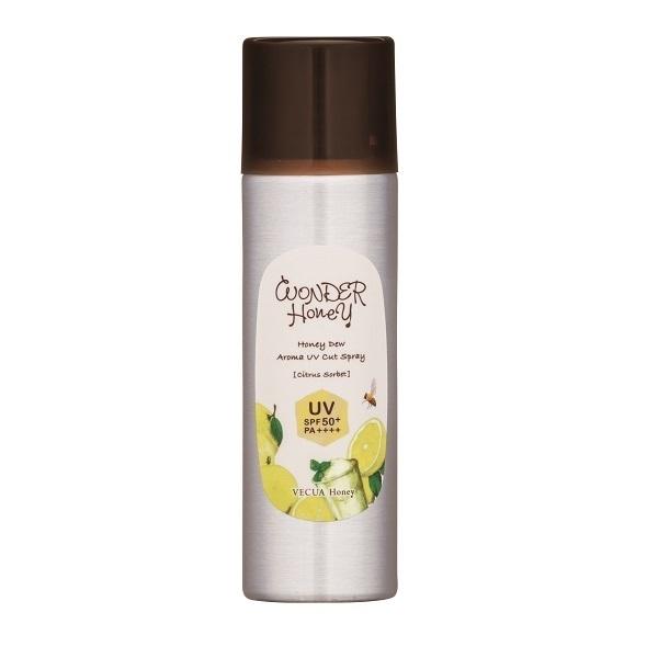 ワンダーハニー アロマUVカットスプレー シトラスソルベ / SPF50+ / PA++++ / 60g / シトラスソルベの香り