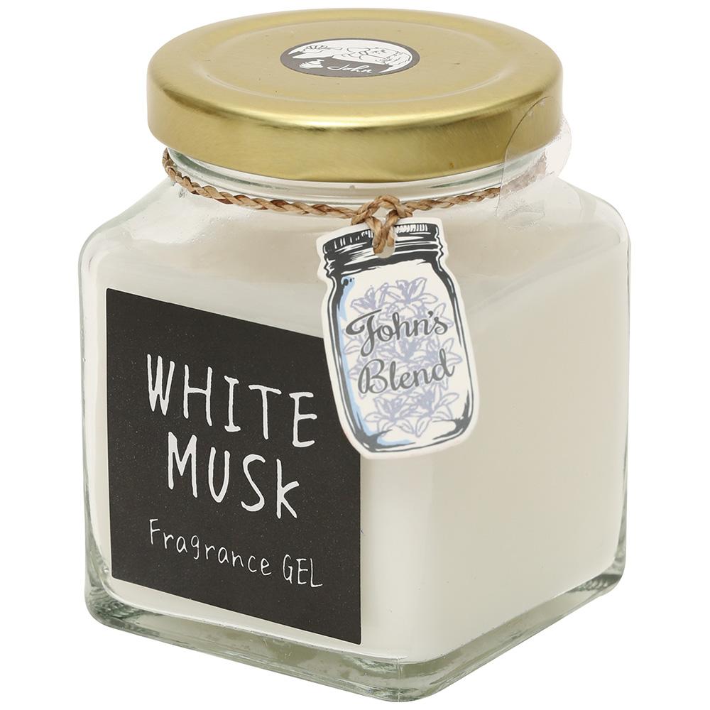 フレグランスジェル / ホワイトムスク / 130g / 爽やかでほのかに甘いソープの香り