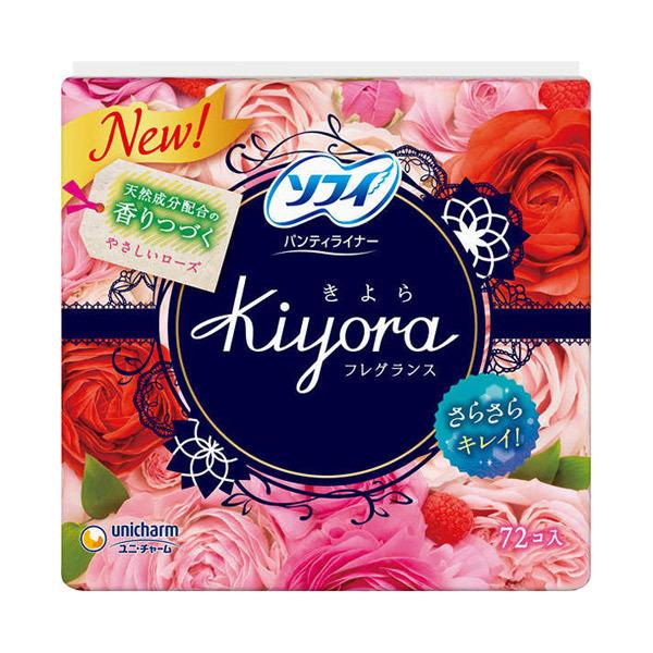 ソフィKiyoraフレグランス パンティライナー / 72枚 / やさしいローズの香り