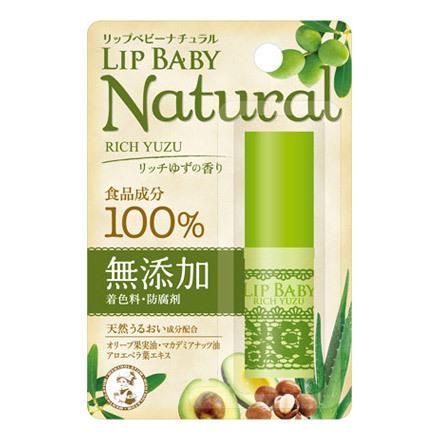 リップベビーナチュラル リッチゆずの香り / 4g
