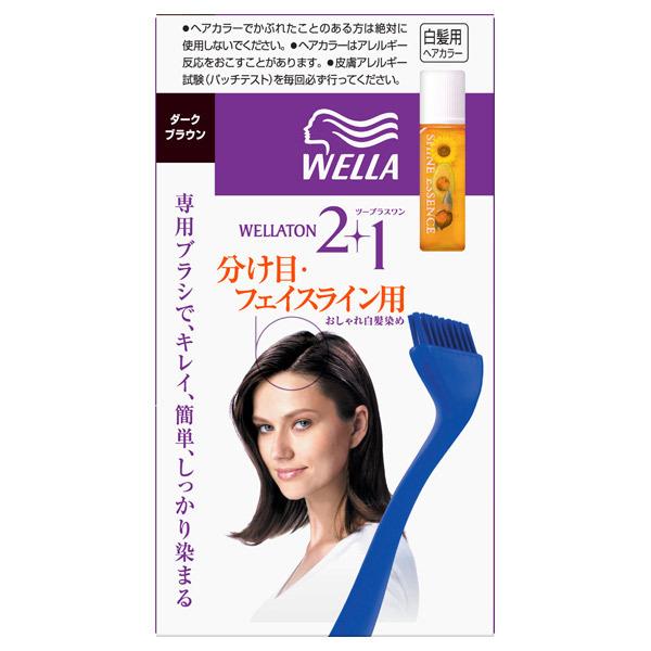 ウエラトーン ツープラスワン 根元・生え際用 / ダークブラウン / 24g+24g+3mL