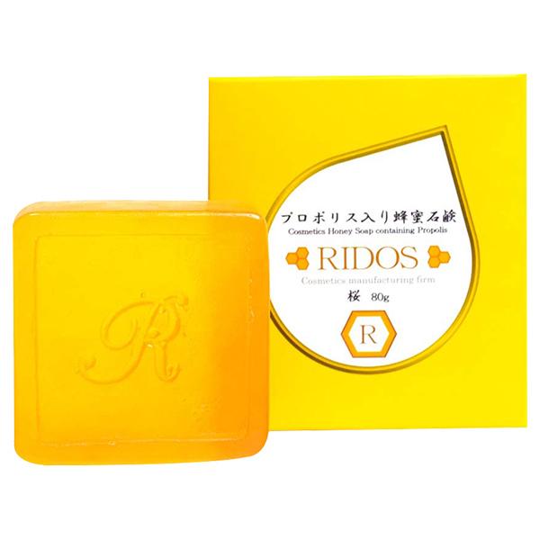 プロポリス入り蜂蜜石鹸 桜 / 本体 / 80g / ハチミツの香り