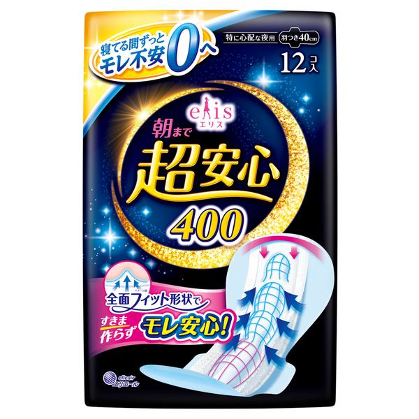 朝まで超安心 / 特に心配な夜用羽つき / 40cm / 12枚