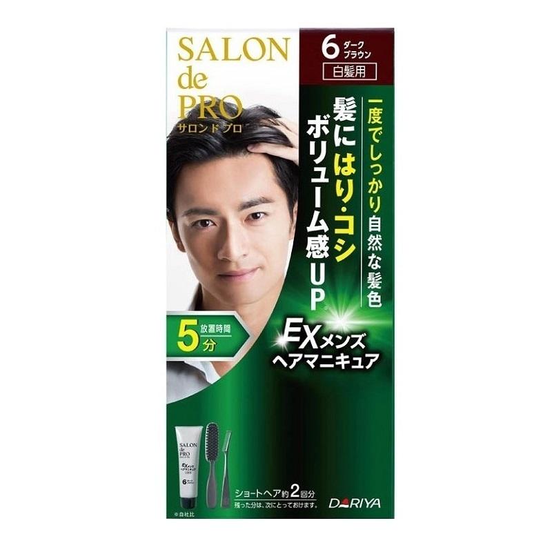 EXメンズヘアマニキュア(白髪用) / 本体 / 【6】ダークブラウン / ヘアマニキュア90g・リムーバー10mL・プロテクトクリーム2g