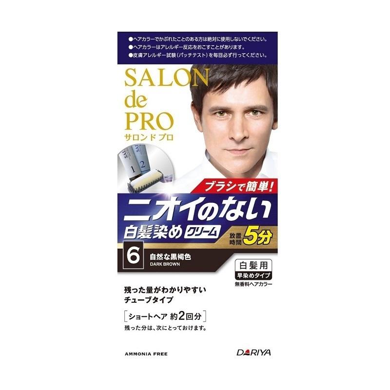 無香料ヘアカラー メンズスピーディ(白髪用) / 本体 / 【6】自然な黒褐色 / 1剤40g・2剤40g