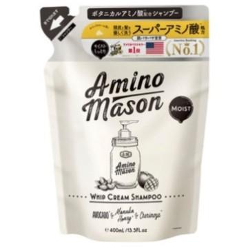 アミノメイソン モイスト ホイップクリーム シャンプー / シャンプー詰替え / 400ml / ホワイトローズブーケの香り 1
