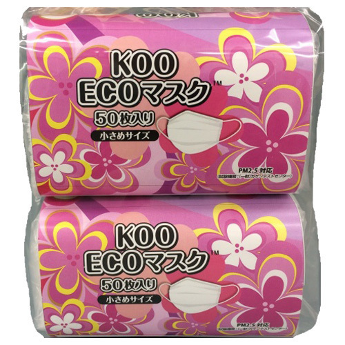 KOO ECOマスク / 小さめ / 100枚(50枚×2P)
