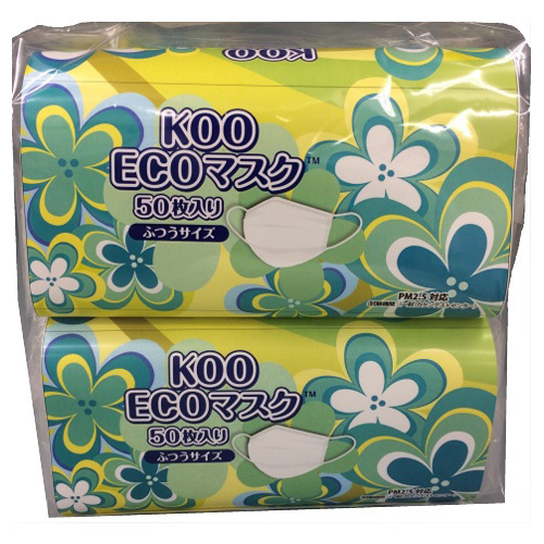 KOO ECOマスク / ふつう / 100枚(50枚×2P)