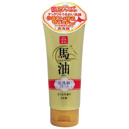 馬油&炭洗顔フォーム / 130g / さくらの香り