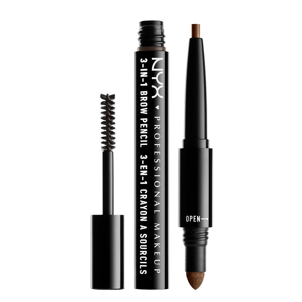 3 イン 1 ブロウ / 03 カラー・ソフト ブラウン / Pencil: 0.2g Powder: 0.32g Mascara: 1.9g