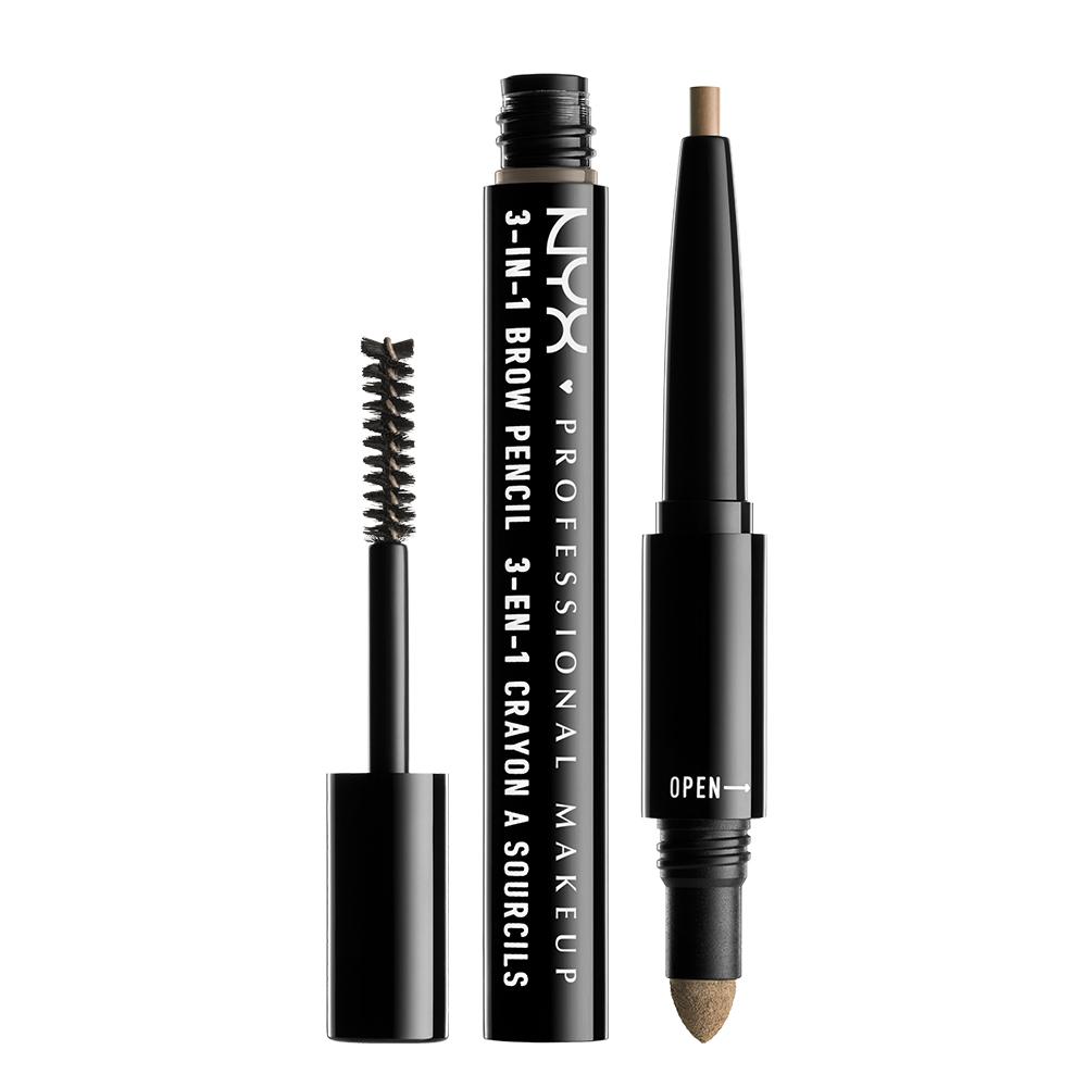 3 イン 1 ブロウ / 01 カラー・ブロンド / Pencil: 0.2g/ Powder: 0.32/ Mascara: 1.9g