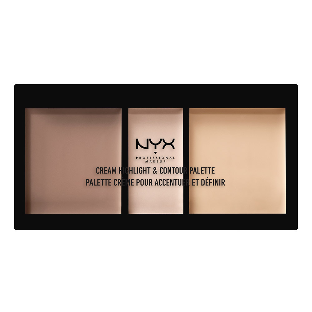 クリーム ハイライト&コントゥアー パレット / 01 カラー・ライト / Highlight & Contour: 4.4g x 2 Shimmer: 2.2g