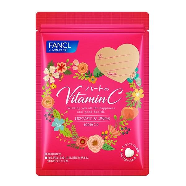 ハートのビタミンC / 本体 / 100粒 / レモンライム風味