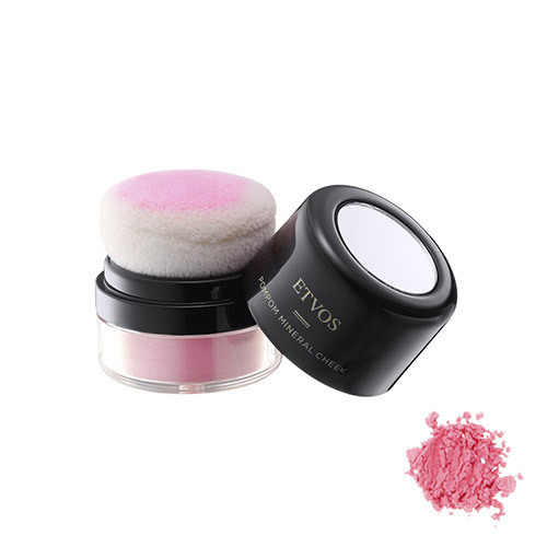 ポンポンミネラルチーク / 本体 / 【ピンクブルーム】透明感のある青味ピンク / 2g