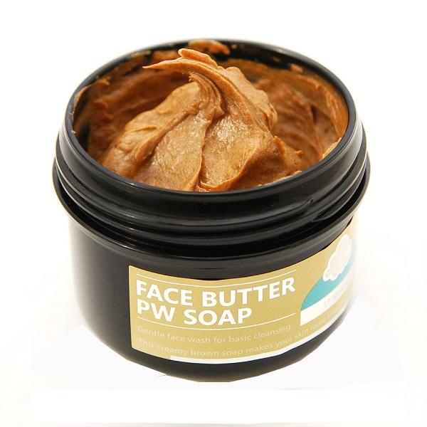 フェイスバター生洗顔PWソープ / 80g / さっぱりするが突っ張りにくい / ハニーメープルの香り