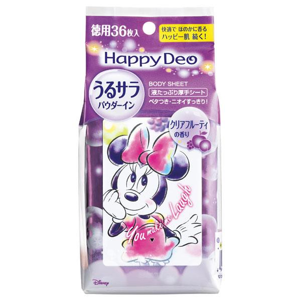 ハッピーデオ ボディシート うるサラ クリアフルーティ / 36枚
