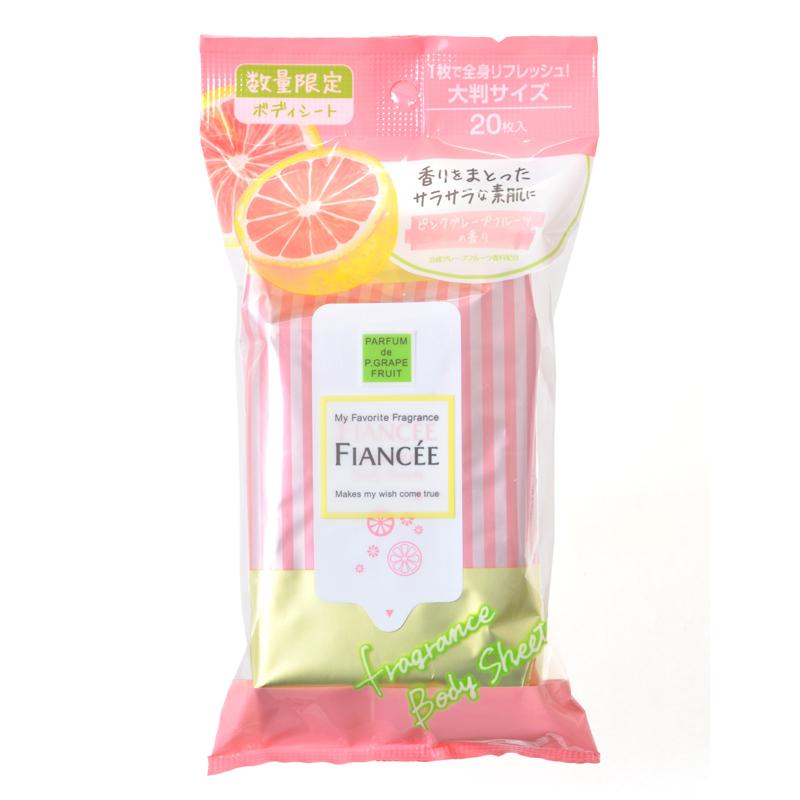 フレグランスボディシート ピンクグレープフルーツの香り / 20枚 / ピンクグレープフルーツの香り