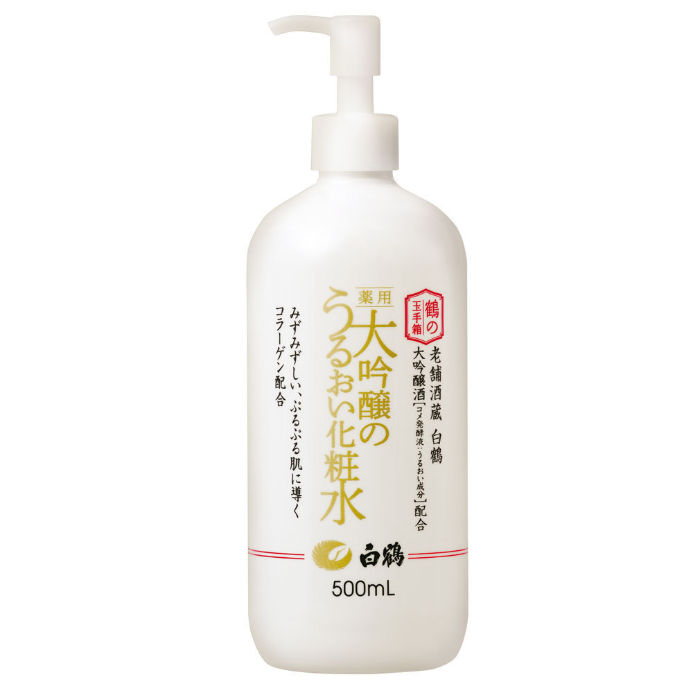 鶴の玉手箱 薬用 大吟醸のうるおい化粧水 / 500ml