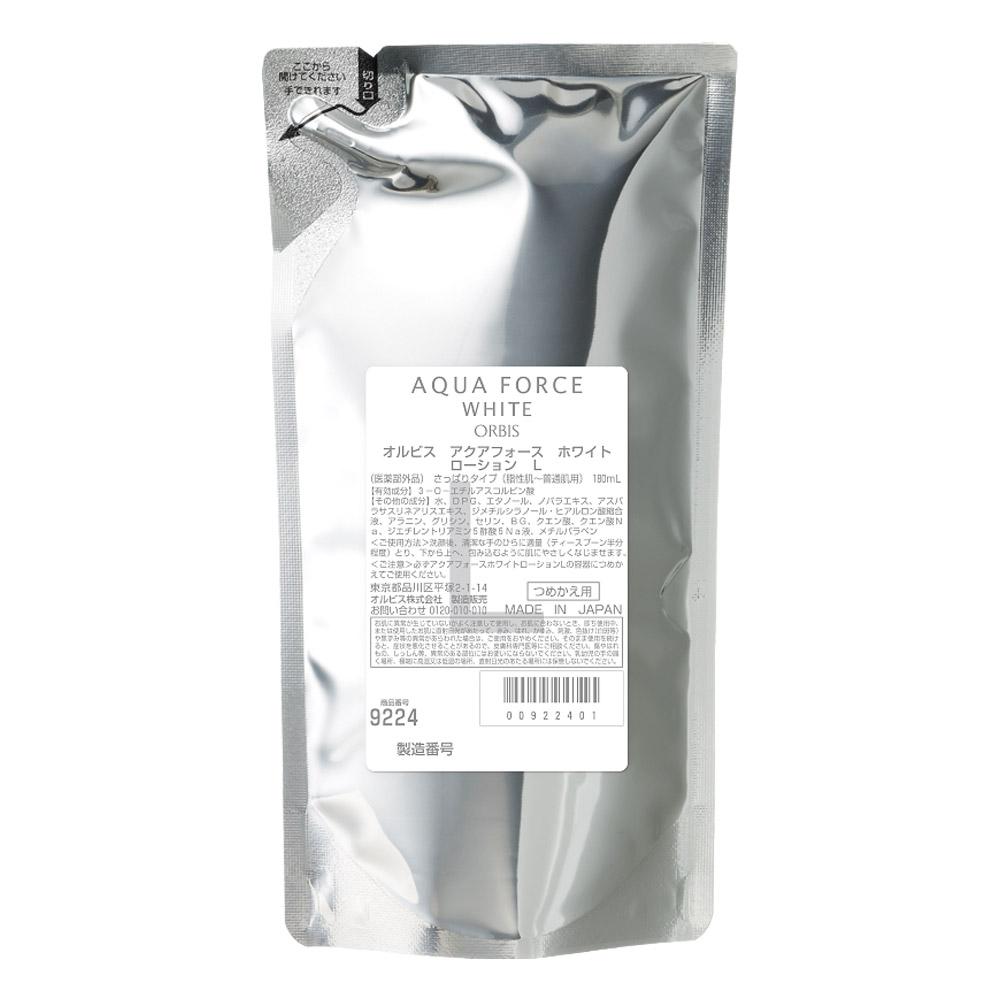アクアフォースホワイトローション L(さっぱり) / 詰替え / 180mL / 無香料