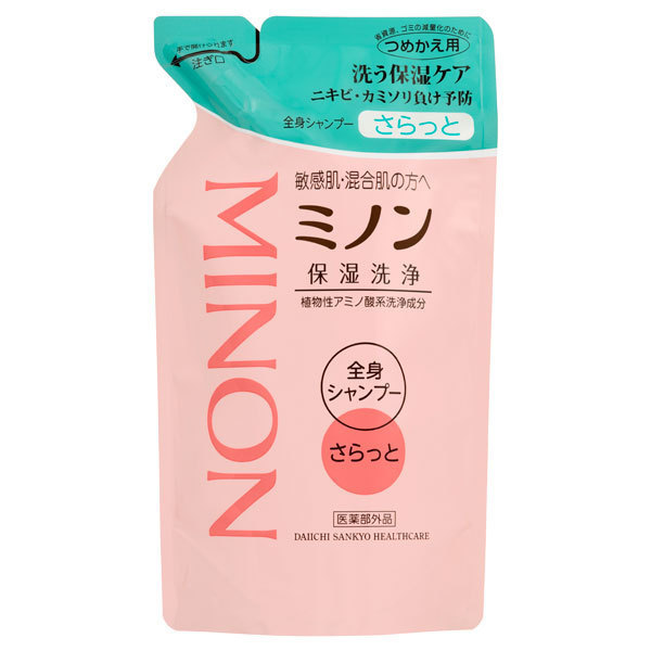 ミノン全身シャンプー(さらっとタイプ) / 詰替え / 380ml / 微香性(グリーンティーの香り)