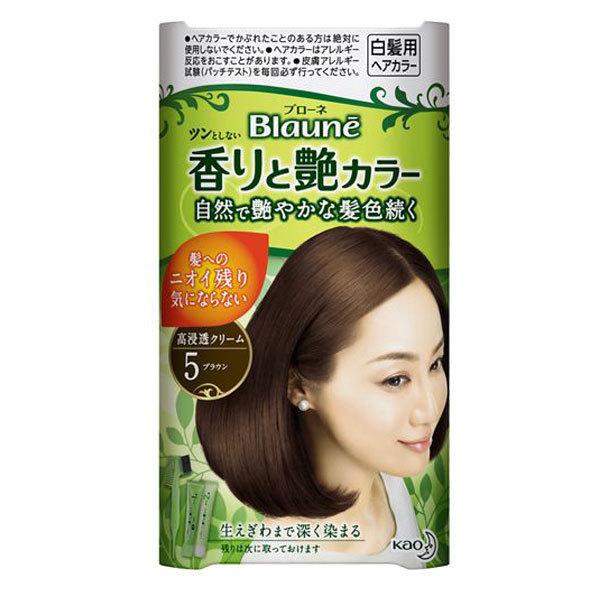 香りと艶カラー / 本体 / 【5】ブラウン / 40g(1剤)+40g(2剤)